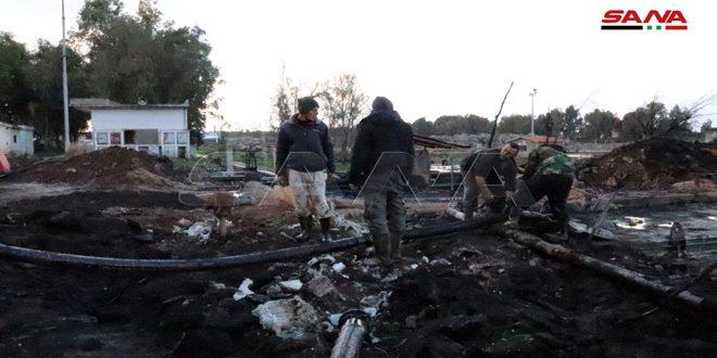 Suriye Ham Petrol Taşıma Şirketindeki Yangından Hasarlar Sadece Maddi ve Sınırılı..
