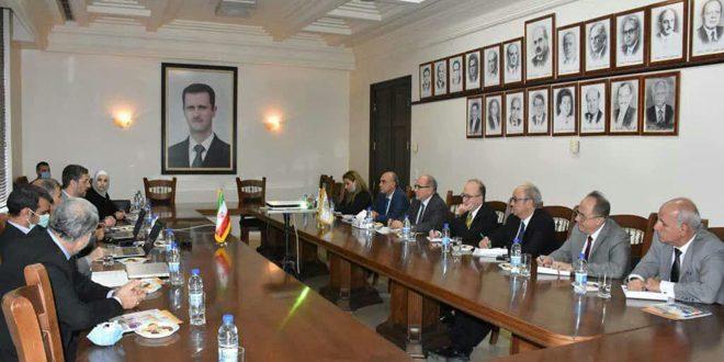 مباحثات سورية إيرانية لتعزيز التعاون في مجالات العلوم الطبية والتكنولوجية والهندسية
