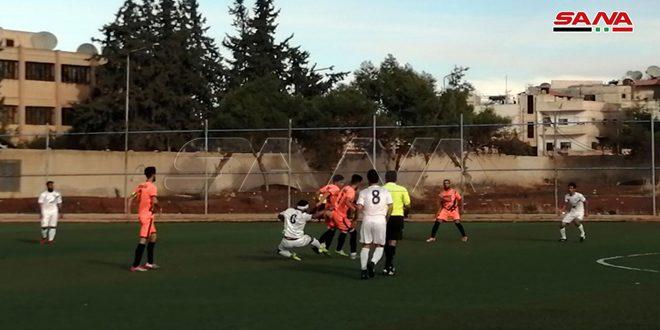 الشعلة يفوز على جرمانا في دوري الدرجة الأولى بكرة القدم