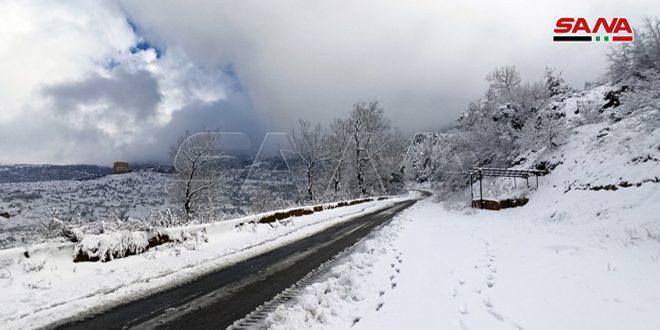 حالة الطرق العامة نتيجة الأحوال الجوية السائدة في البلاد