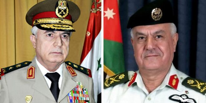 تلبية لدعوة من رئيس هيئة الأركان الأردنية… العماد أيوب يقوم بزيارة رسمية إلى الأردن